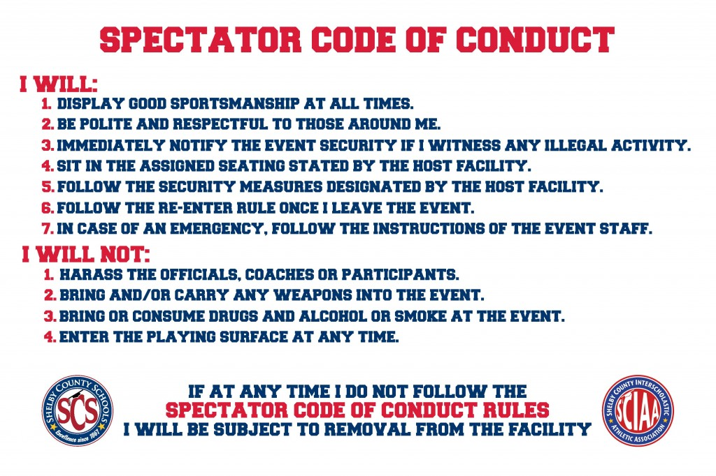 Spectator code of conduct