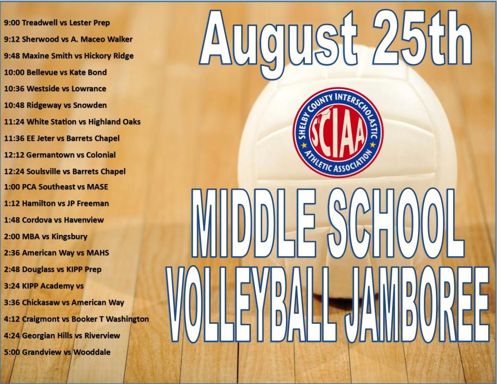 Jamboree Schedule