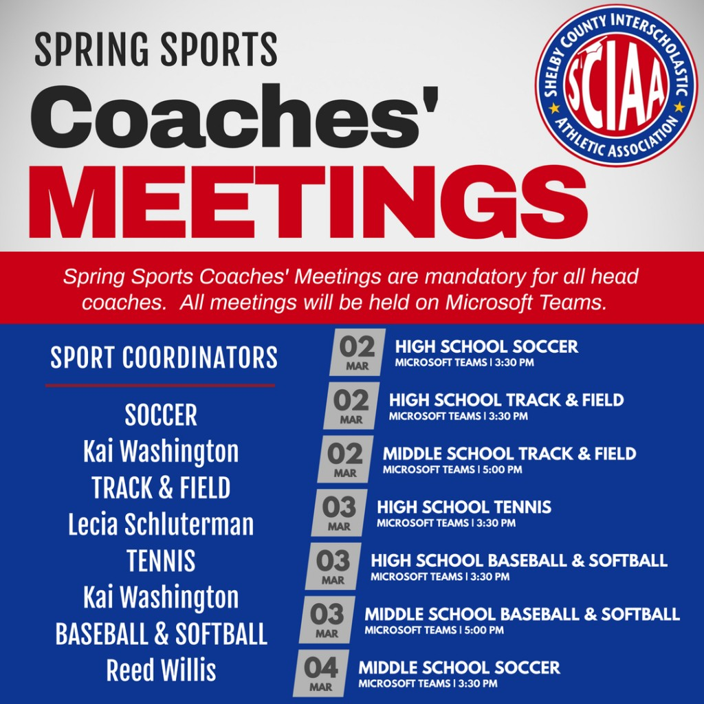 Copy of Spring sports meeting 2021