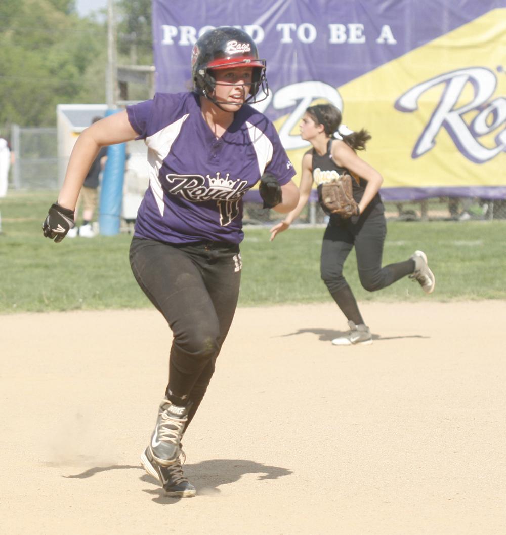 Upper Darby's Sam Witmer runs to third base. Photo by Anne Neborak.