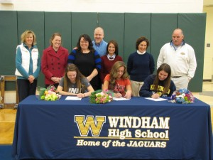 Three Windham Field Hockey Players sign their NLI to play at UNH, Brown, and Merrimack