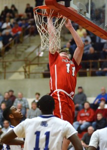 Ryan Daly with a dunk