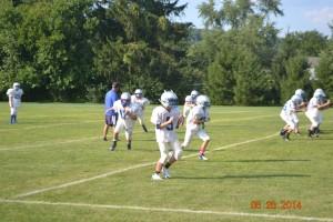 GV 7th & 8th grd. Football pre-season practice pics