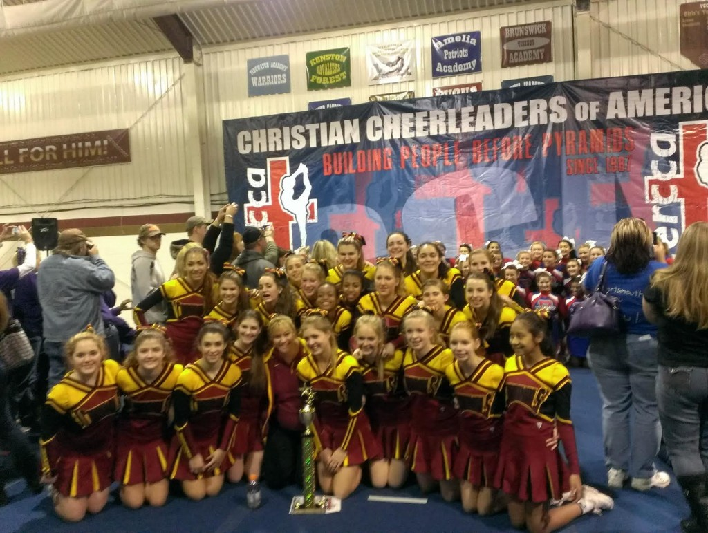 BISHOP IRETON CHEERLEADERS TAKE 2ND PLACE AT REGIONALS!!