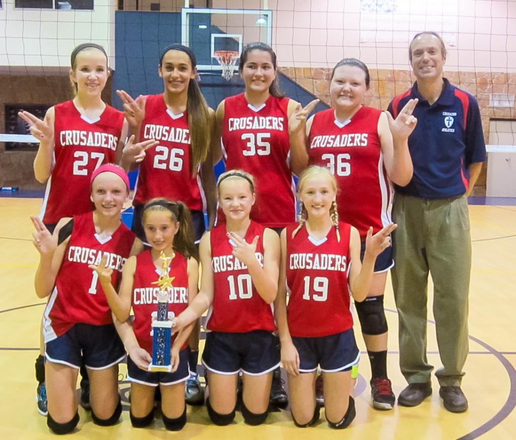 RRCA 7th/8th Grade Volleyball, 2014 San Marcos HCCS Tournament Champions