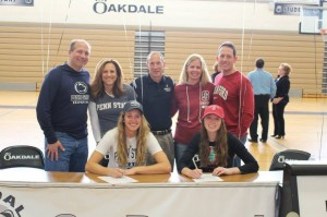 Two Oakdale Athletes Sign College Commitments