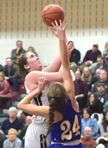 Emily McAteer, pictured earlier in the season, led the way with 27 points in Garnet Valley's 62-40 rout of Bethlehem Freedom in the second round of the PIAA Class 6A tournament Tuesday. The Jaguars (28-1) shot 29-for-44 (68.2 percent) from the field.