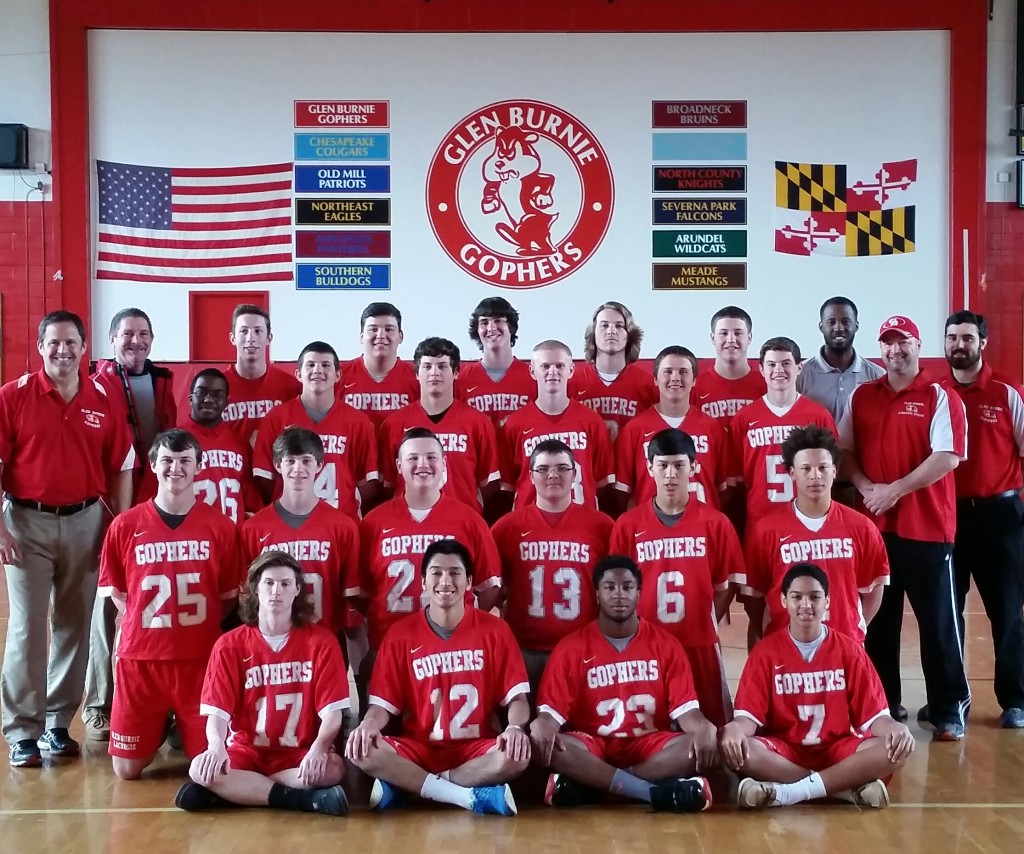 2015 Glen Burnie Gophers Lacrosse Roster